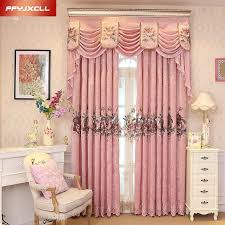 nach maß luxus bestickt volant dekoration rosa tuch vorhang für wohnzimmer schlafzimmer fenster behandlung vorhänge tüll