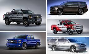 100 Sema 2013 Trucks Chevrolet Brings A Gaggle Of Silverados Suburbans And Tahoes To