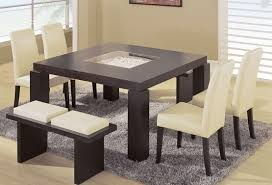 contemporary dining room sets with benches 5 piece modern dining
