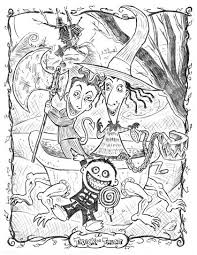 Tim Burton Esque Coloring Pages Best Nightmare Before Christmas Book Free Printable