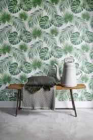 wohnzimmer tapete tropische blätter grün 139013