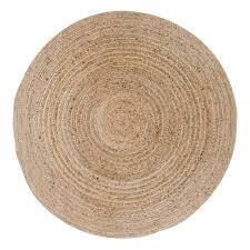 broom teppich ø180 jute natur beige rund läufer wohnzimmer esszimmer modern