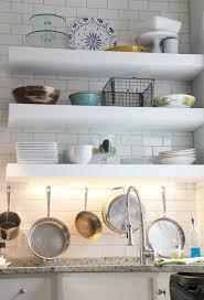 chunky diy floating kitchen shelves
