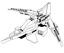 Lego Ninjago Kai Fighter New Coloring Pages
