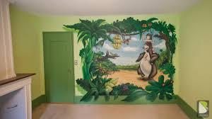 décoration jungle chambre bébé le livre de la jungle en graff à ève graffeur ch