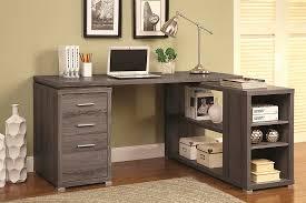white l shape desk with silver hardware co 516 desks