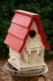 Antique Style Bird House Victorian Vintage RusticFunctional Housebird Primitive Birdhouse