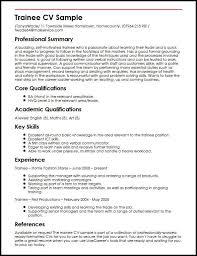 Trainee CV Sample