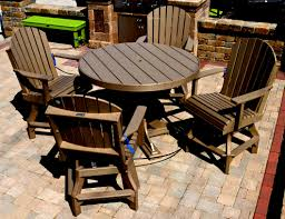 Squirrel Feeder Adirondack Chair by Outdoor Restaurant Furniture Made From Recycled Milk Jugs