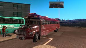 100 Truck And Bus SCHOOL BUS FREIGHTLINER F65 BETA AMERICAN TRUCK BUS MOD ATS Mod
