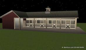 Shed Row Barns For Horses by 4 Stall Shed Row Horse Barn