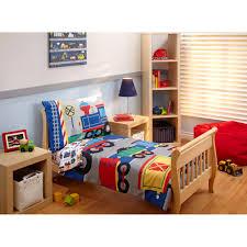 Everything Kids Choo Choo 3 Piece Toddler Bedding Set with BONUS