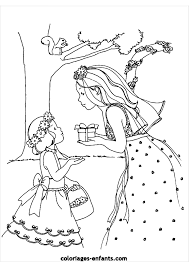 Coloriage A Imprimer Cendrillon Princesse De Chocolat Filena