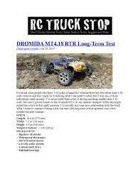 100 Rc Truck Stop DROMIDA MT418 RTR LongTerm Test By RC Chris Issuu