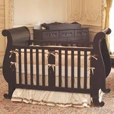 chelsea sleigh crib in black by bratt decor