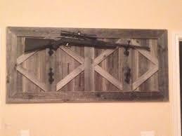 Diy Gun Cabinet Plans by Gun Rack Made Out Of Barn Wood Home Decor Pinterest Barn
