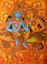 Famous Kerala Mural Artists by Buy Painting Radha And Krishna Artwork No 9006 By Indian Artist