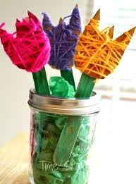 Best S Spring Kids Crafts Images On Yarn Craft For Toddlers Beautiful Wrapped Flowers Easy