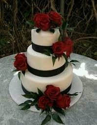 Wedding Cake Red Rose