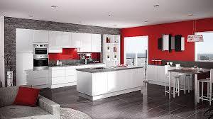 cuisine moderne blanche et decor unique decoration cuisine moderne et blanc hi res