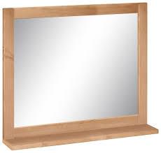 home affaire wandspiegel westa breite 60 cm badezimmerspiegel mit rahmen massivholz kiefernholz 1 ablage kaufen otto