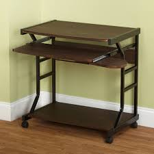 Sauder Shoal Creek Executive Desk Jamocha Wood by Small Compact Mobile Portable Student Computer Berkeley Desk With