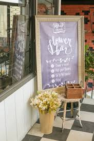 Flower Bar From A Vintage Hipster Pop Up Shop Party Via Karas Ideas