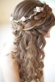 Braid Crown With Long Loose Hair