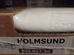 ikea holmsund bezug eckbettsofa ransta weiß 803 017 30 neu