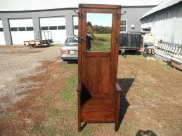 Vintage Tiger Oak Dresser by Bench Antique Hall Tree With Storage Bench And Mirror Antique