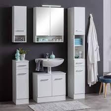 weißes badezimmer möbelset skiranov 5 teilig