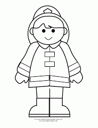Fireman Coloring Pages Clipart Firefighter Pdf Page Educations