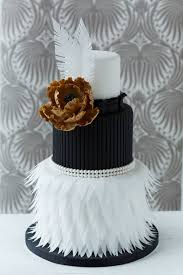 cute white and black feather wedding dress with gold flower