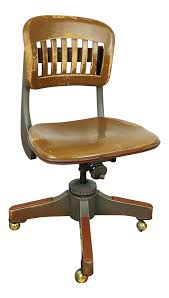 Antique Sikes Industrial Swivel Desk Office Chair | Chairish