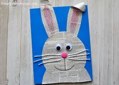 Looking For A Cute Easter Craft Kids This Super Newspaper Bunny Is