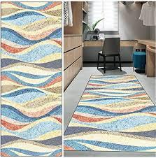fkyuh teppich läufer flur küche rutschfest waschbar bunt lange vintage kücheläufer teppichläufer polyester meterware anpassbar size 60x100cm