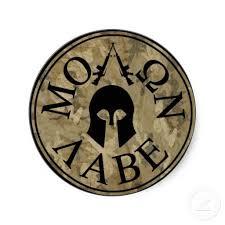 Molon Labe Come And Take Them Classic Round Sticker
