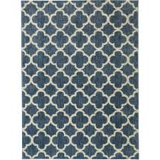 Mohawk Home Teal Fret Area Rug Available in Multiple Sizes