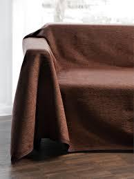 jeté de canapé en hahn le jeté de canapé et lit 160x270cm marron foncé