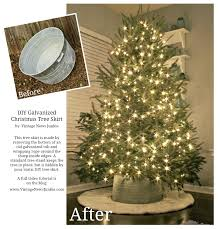 Christmas Tree Watering Funnel Home Depot by How To Make A Tree Skirt Out Of A Galvanized Tub Crate U0026 Barrel