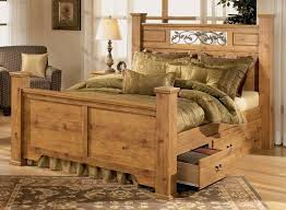 Diy Bedroom Furniture Rustic Pine Bedroom Furniture Brown Plank