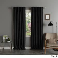 Blackout Curtain Liner Fabric by Aurora Home Solid Insulated Thermal Blackout Curtain Panel Pair