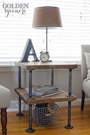 Use Steel Pipes With Wood To Create An Industrial Side Table