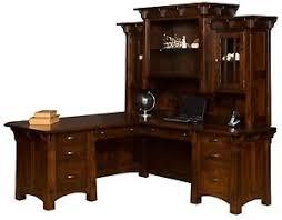 Ebay Corner Computer Desk by Amish Mission Corner Computer Desk Hutch Home Office Solid Wood