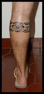 Nice Antic Like Black Ink Tribal Style Leg Band Tattoo On