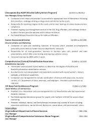 Sample Resume For Social Worker Position