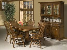 Country Style Dining Room With Cappuccino Finish China Cabinet Hutch