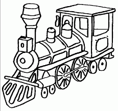Train Coloring Pages For Kids Printable