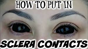 All White Halloween Contacts by How To Put Big Sclera Contacts In The Easy Way Beautybyjosiek
