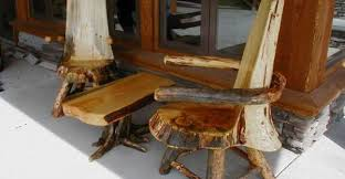 DIY Outdoor Log Furniture Plans